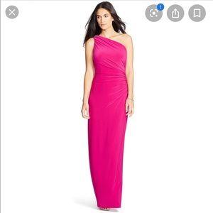 🆕 Ralph Lauren one shoulder broach touched dress